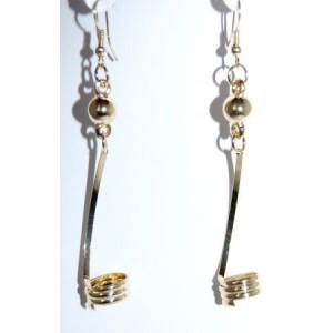 Boucles métal doré, spirale
