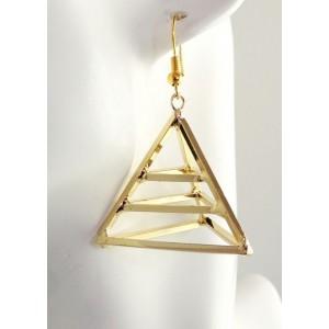 Boucles métal doré pyramide