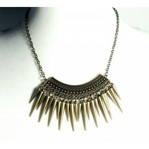 Collier métal couleur bronze vintage, ras de cou femme