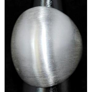 Bague acier brossé forme boule