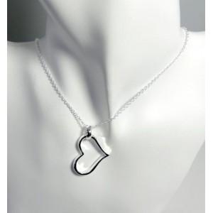 Collier argent 925 pendentif cœur