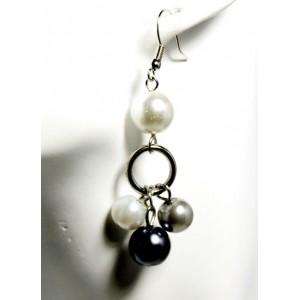 Boucles perles pendantes 2 couleurs