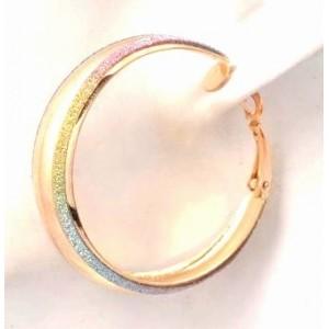 Boucles métal doré, créoles caméléon