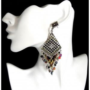 Boucles d'oreilles LOL by Lolilota, perles de rocaille vertes