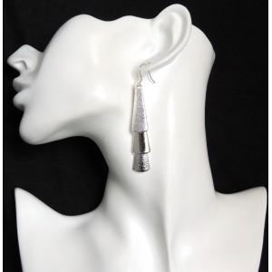 Boucles d'oreilles en argent 925, triangles pendants articulés et libres
