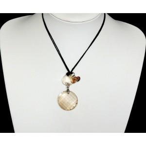 Collier ras de cou caméléon, pierres en cristal facetté qui se fondent à la couleur de votre tenue