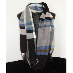 Echarpe pour homme quadrillée, couleurs noire, marron, bleue, grise, blanche et beige