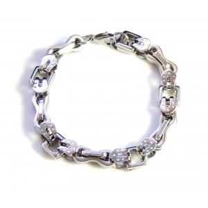 Bracelet design en acier inoxydable mailles originales et épaisses