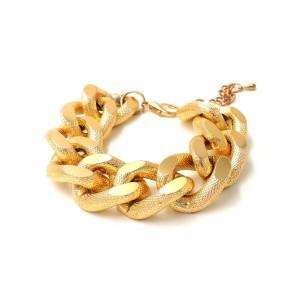 Bracelet en métal doré, chaîne avec des gros maillons