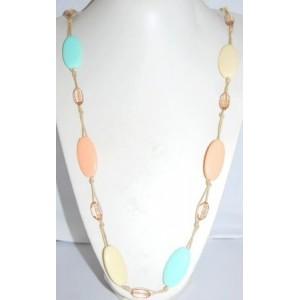 Collier perles pastel, sautoir