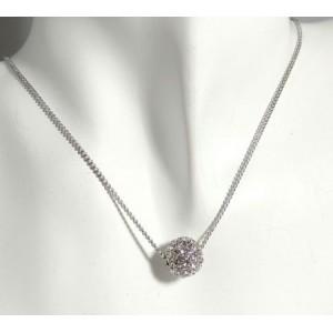 Parure en métal argenté, collier globe précieux et boucles