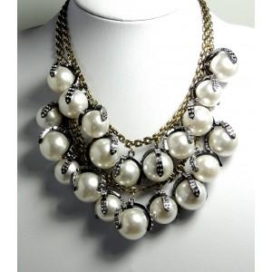 Collier perles nacrées 2 rangs