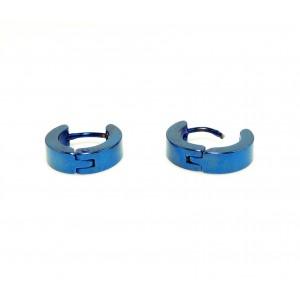 Boucles acier inoxydable bleu électrique, créoles homme