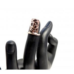 Bague d'ongle ajustable en métal doré ajouré