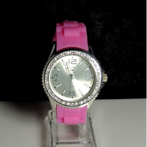 Montre silicone rose Bellos