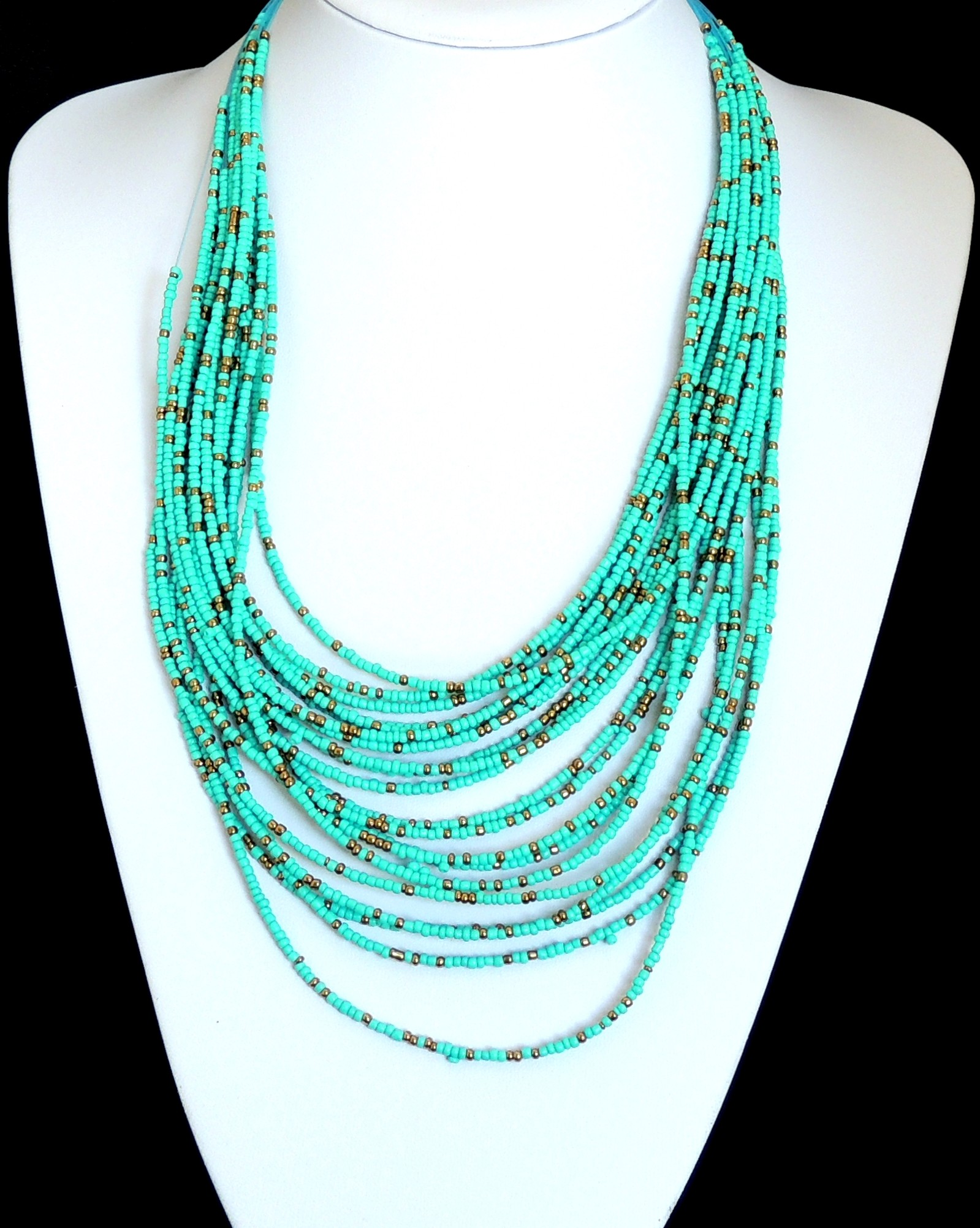 collier femme perle turquoise