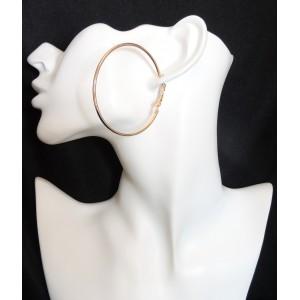 Créoles rondes classiques en métal doré