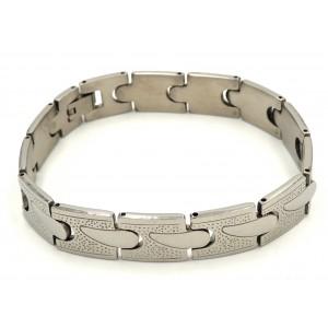 Bracelet en acier 316 L avec des maillons effet martelé