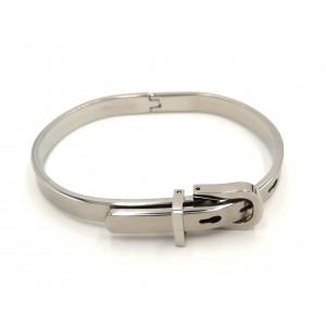 Bracelet en acier 316 L brossé luxe, en forme de ceinture