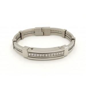 Bracelet en acier 316 L incrusté de strass