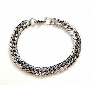 Bracelet en acier inoxydable pour homme, mailles serrées