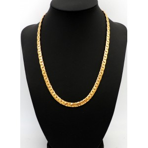 Collier ras de cou en plaqué or homme
