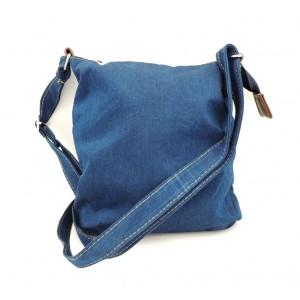 Petit sac à main en jean denim avec poches extérieures