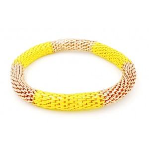 Bracelet en métal doré et jaune