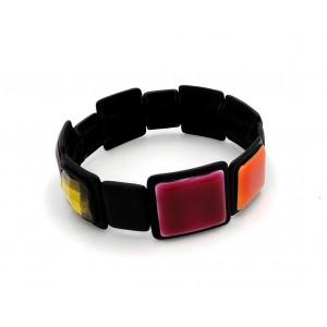 Bracelet de la marque Ikita en émail et pierres facettées en résine