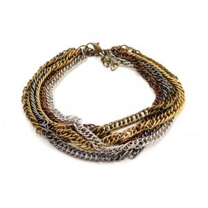 Bracelet multi chaînes en métal , 4 couleurs