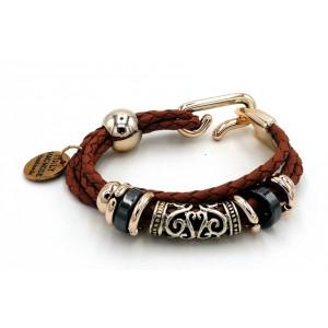 Bracelet en cuir marron fait main