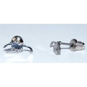 Boucles acier, motif scorpion