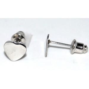 Boucles acier, motif cœur